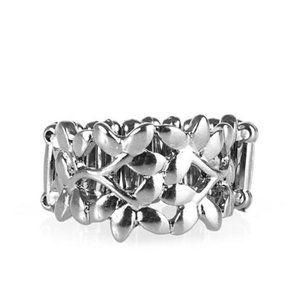 Paparazzi Accessories Gun Metal Stretch Ring